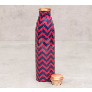 India Circus Chevron Melavo Copper Bottle