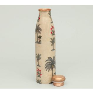 India Circus Chevron Palms Copper Bottle