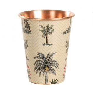 India Circus Chevron Palms Copper Tumbler