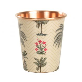 India Circus Chevron Palms Small Copper Tumbler