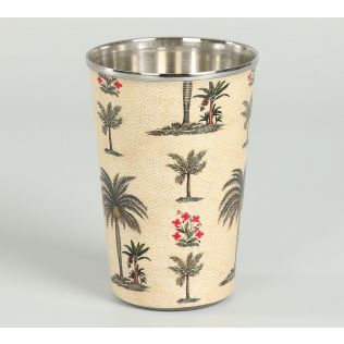 India Circus Chevron Palms Steel Tumbler (Set of 2)