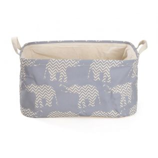 India Circus Chevron Tusker Rectangle Laundry Basket