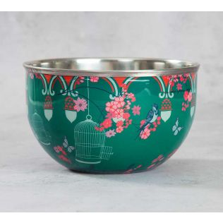 India Circus Chirping Birds Realm Serving Bowl