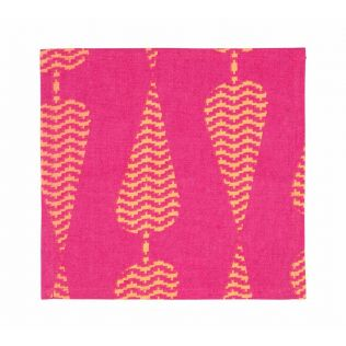 India Circus Conifer Spades Cocktail Napkins Set of 6