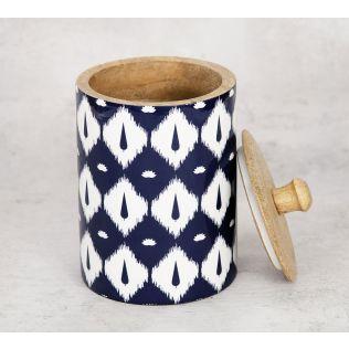 India Circus Conifer Symmetry Medium Wooden Jar
