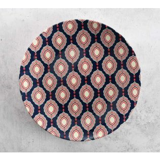India Circus Curved Mirror Creeper Decor Plate