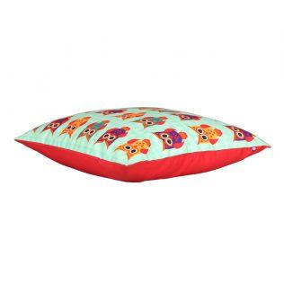 India Circus Disco Hedwig Blend Taf Silk 16 x 16 Cushion Cover