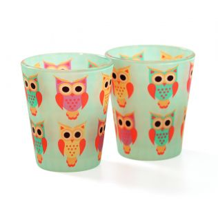 India Circus Disco Hedwig Frosted Shot Glasses (Set of 2)
