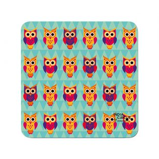 India Circus Disco Hedwig MDF Table Coaster (Set of 6)