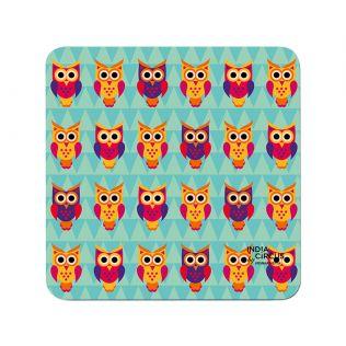 India Circus Disco Hedwig PVC Table Coaster (Set of 6)
