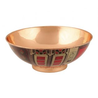 India Circus Doors Of Mystical Wonder Copper Bowl