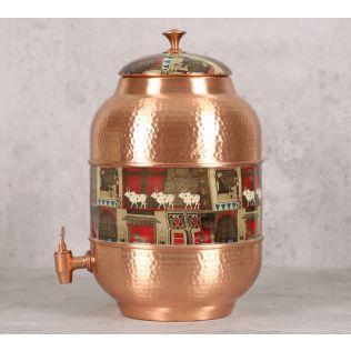 India Circus Doors Of Mystical Wonder Copper Water Dispenser