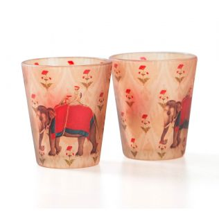 India Circus Earth Mahout Shot Glasses Set of 2