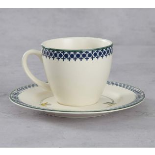 India Circus Flight of Birds Cup and Saucer