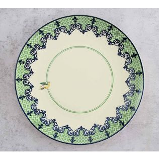 India Circus Flight of Birds Dinner Plate