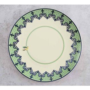 India Circus Flight of Birds Dinner Plate