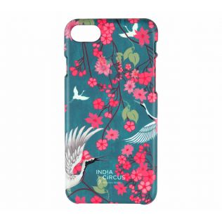 India Circus Flight of Cranes Floral Flutter iPhone 8 Cover