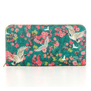 India Circus Flight of Cranes Ladies Zipper Wallet
