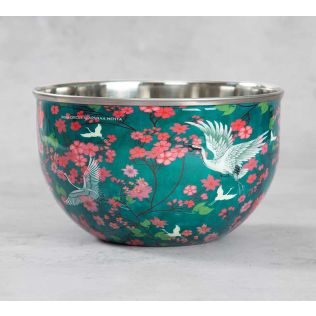 India Circus Flight of Cranes Serving Bowl