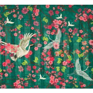 India Circus Flight of Cranes Shower Curtain