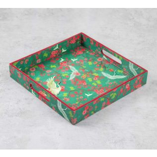 India Circus Flight of Cranes Square Tray