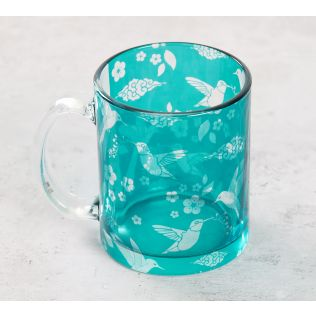 India Circus Flock of Birds Glass Mug