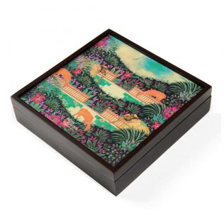 India Circus Floors of Flourish Small Storage Box
