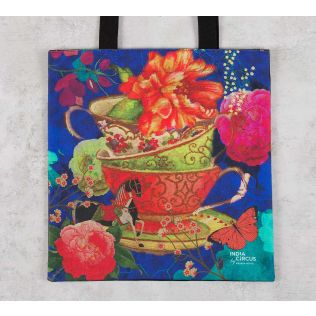 India Circus Floral Cup Illusion Jhola Bag