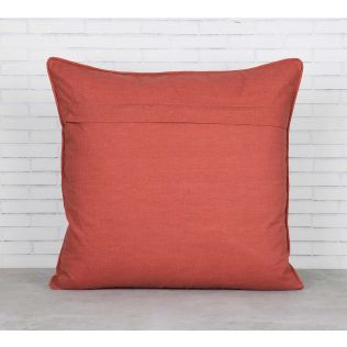 India Circus Floral Embroidery Blended Taf Silk Cushion Cover