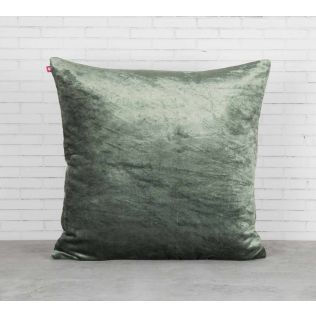 India Circus Floral Enigma Siege Green Embroidered Velvet Cushion Cover