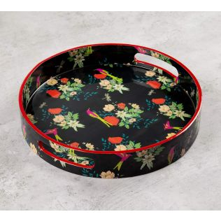 India Circus Floral Fascination Round Serving Tray