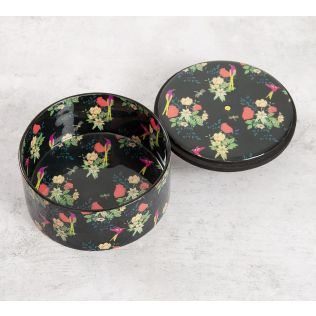 India Circus Floral Fascination Round Storage Box
