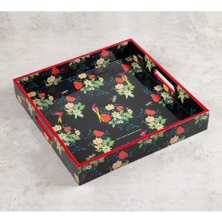India Circus Floral Fascination Square Tray