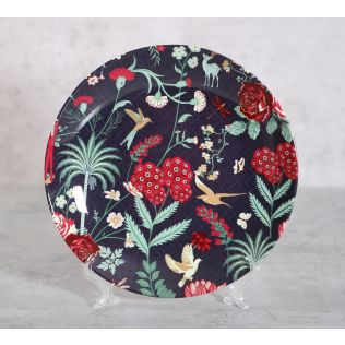 India Circus Floral Galore Decor Plate