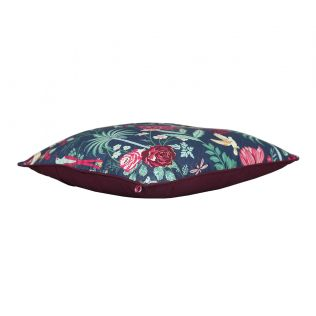 India Circus Floral Galore Polyester Cushion Cover