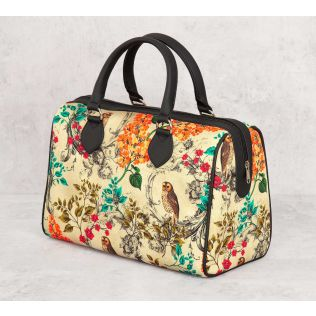 India Circus Floral Hooting Duffle Bag