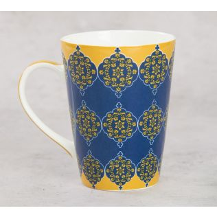 India Circus Floral Hypnosis Coffee Mug