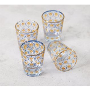 India Circus Floral Hypnosis Shot Glass (Set of 4)