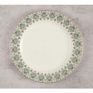 India Circus Floral Illusion Dinner Plate