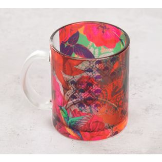 India Circus Floral Kingdom Glass Mug