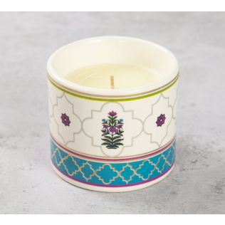 India Circus Floral Lattice Candle Votive