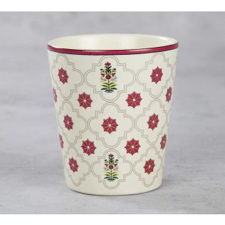 India Circus Floral Lattice Coffee Mug