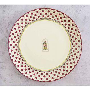 India Circus Floral Lattice Dinner Plate