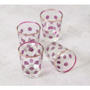 India Circus Floral Lattice Shot Glass (Set of 4)