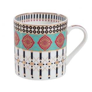 India Circus Floral Reed Coffee Mug Set of 6