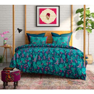India Circus Flower Blooms Bed Sheet Set