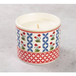 India Circus Flowers and Ferns Candle Votive