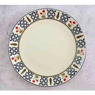 India Circus Flowers and Ferns Dinner Plate