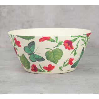 India Circus Fluttering Extravagance Bamboo Salad Bowl Set