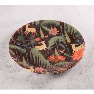 India Circus Forest Fetish 8 inch Decorative and Snacks Platter